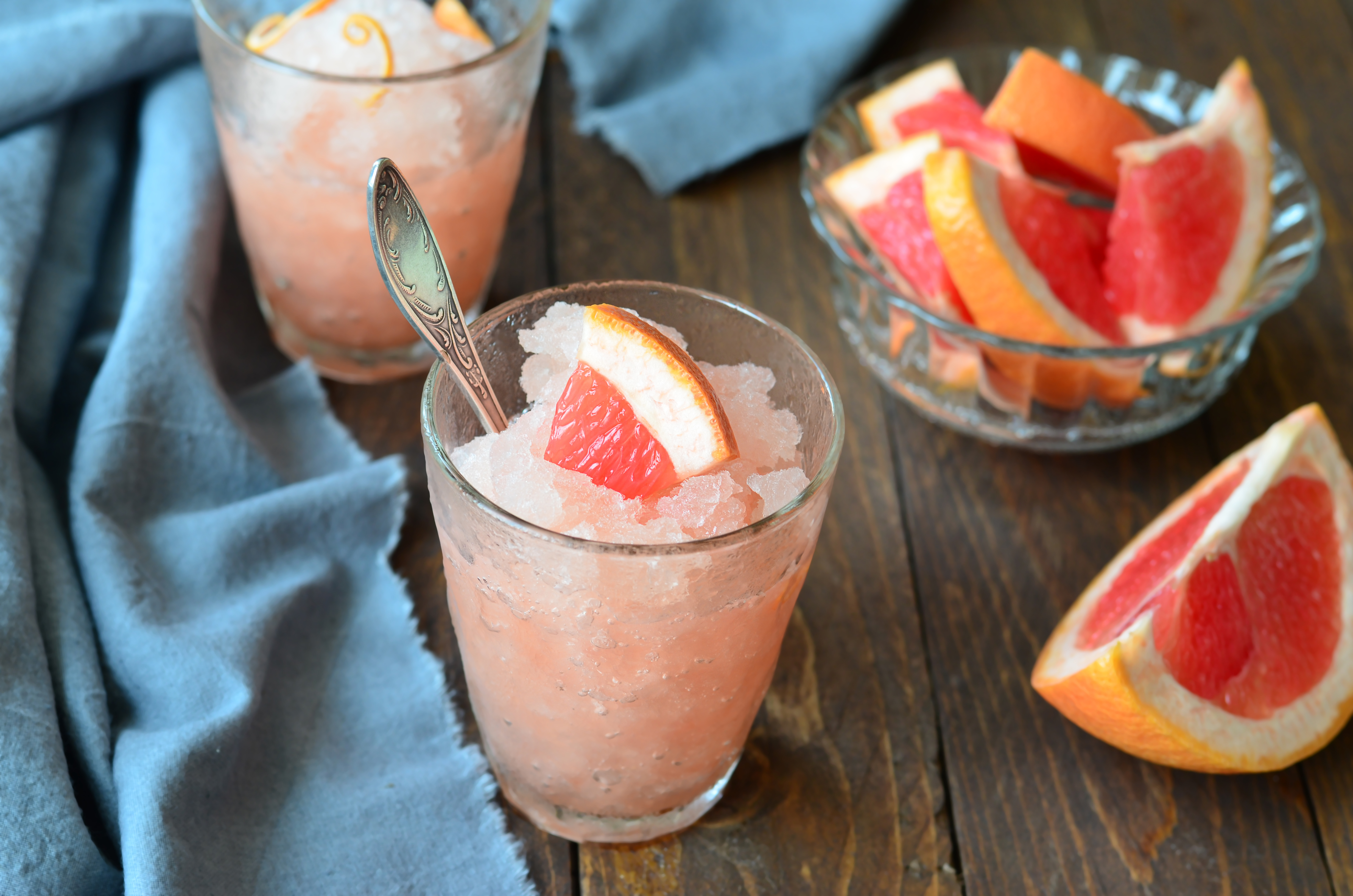 Grapefruit Campari Granita