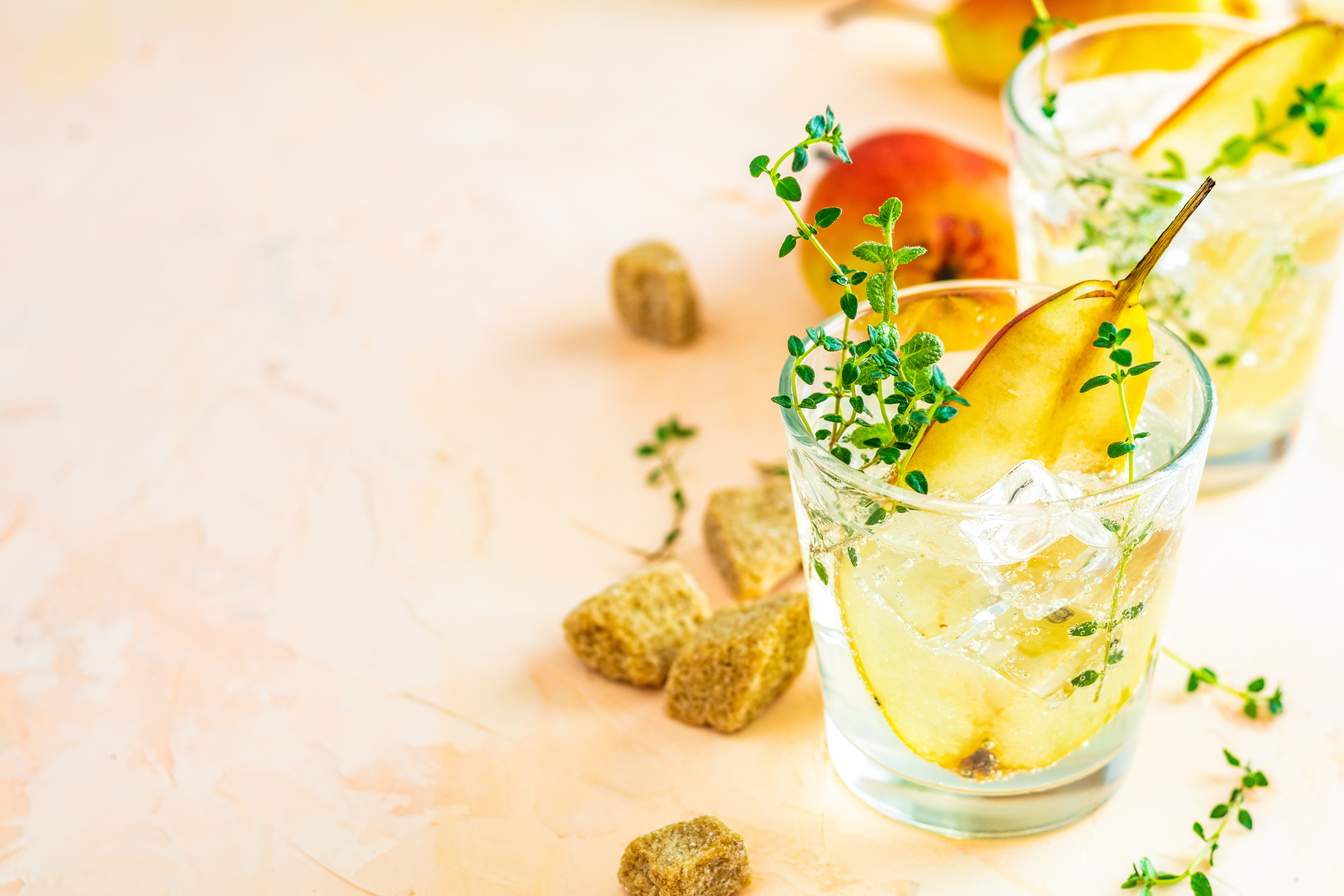 Thyme Pear cocktail