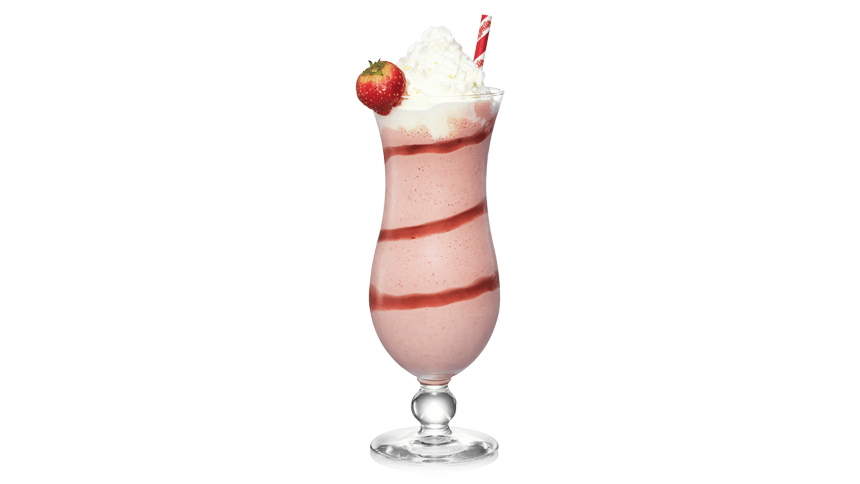 Strawberry shake cocktail