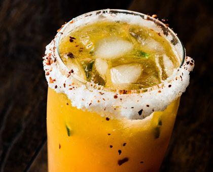 Ancho Reyes Hudson Baby Bourbon Lemon Tomato Beer