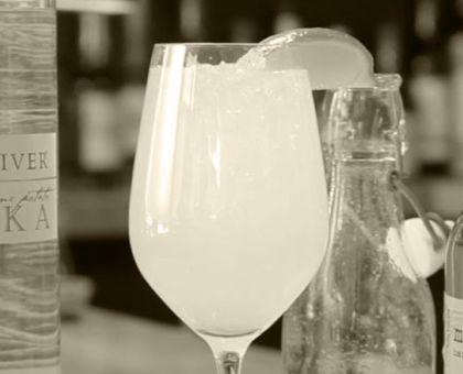 """The Bright & Sunny"" mixed drink."
