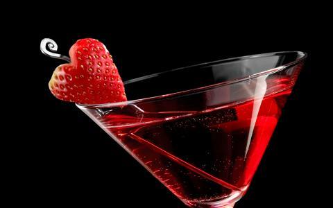 Strawberry Tease Martini