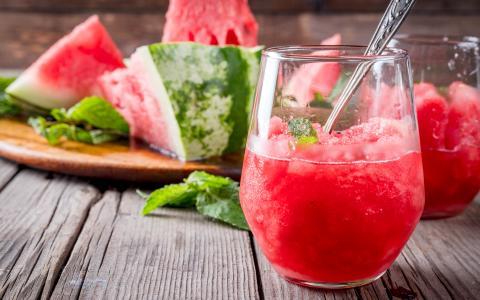 Watermelon Mojito Granita