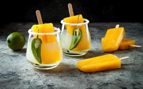 Spicy Mango Margarita Pops