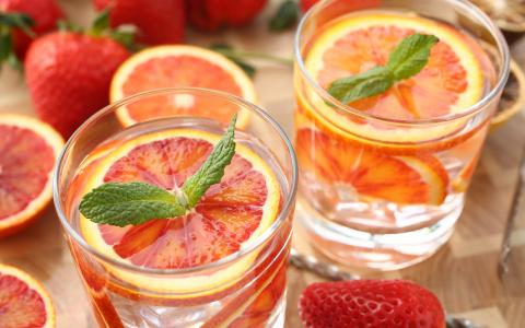 Summer Grapefruit Strawberry Mocktail