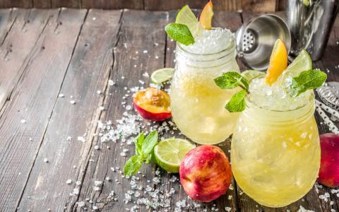 Summery Peach Mocktail