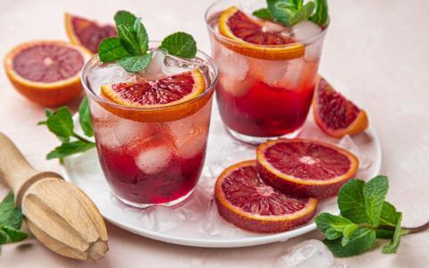 Blood Orange Grapefruit Fizz