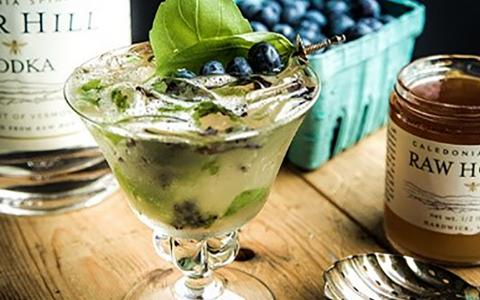 Blueberry Basil Vodka Club