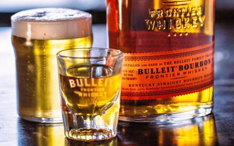 Bulleit Bourbon Boilermaker