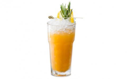 Grilled Tangerine- Rosemary Rum Mixer
