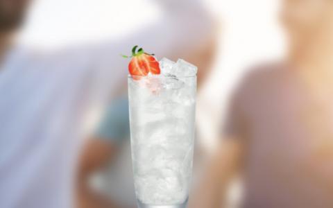Malibu Strawberry and Coconut water
