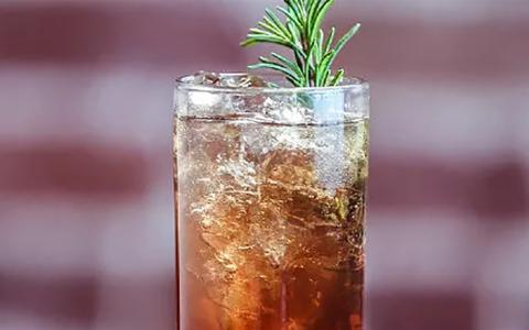 Brillig Rosemary-Pomegranate Soda (Mocktail)
