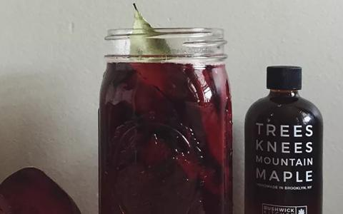 Maple Beet Shrub (Mocktail)