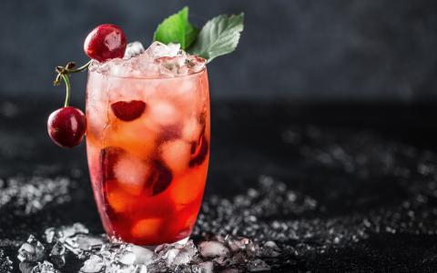 Peach Cherry Cobbler Cocktail