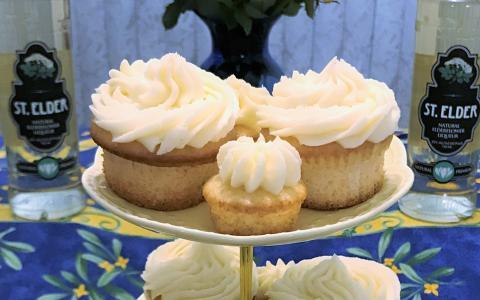 St. Elder Elderflower Cupcakes