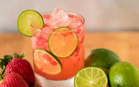 Strawberry Limeade (Mocktail)