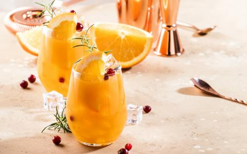 Summery Orange Cranberry Mocktail