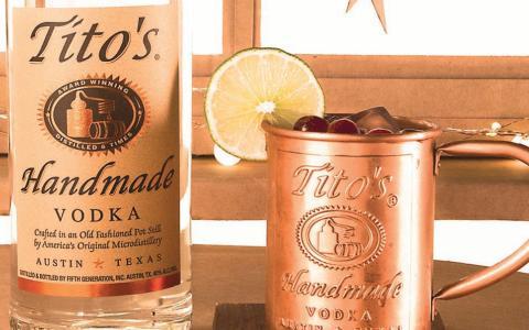 Tito's Cranberry Mule