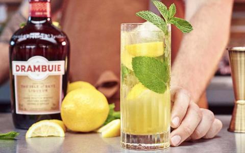 Drambuie Lemon Mint Collins