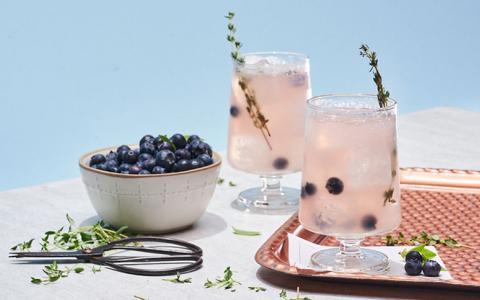 Blueberry Thyme Mojito
