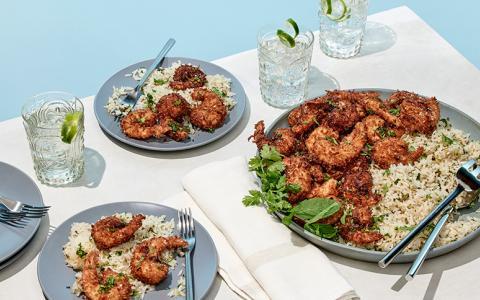 Cilantro Mojito Shrimp & Rice