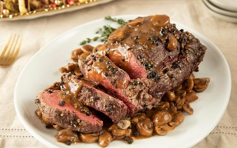 Bourbon Peppercorn Beef