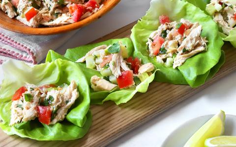 Margarita Chicken Salad with Tomatoes and Mint