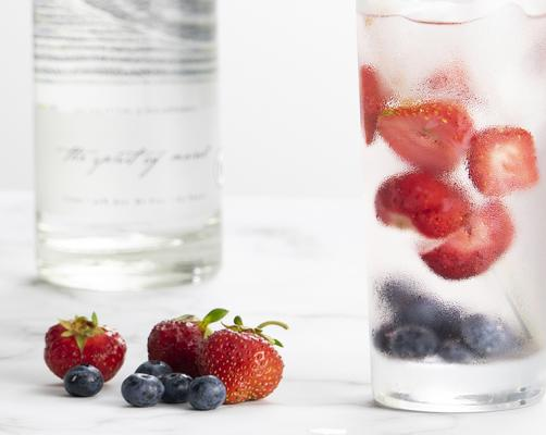 Cold River Red White and Blueberry Vodka Tonic