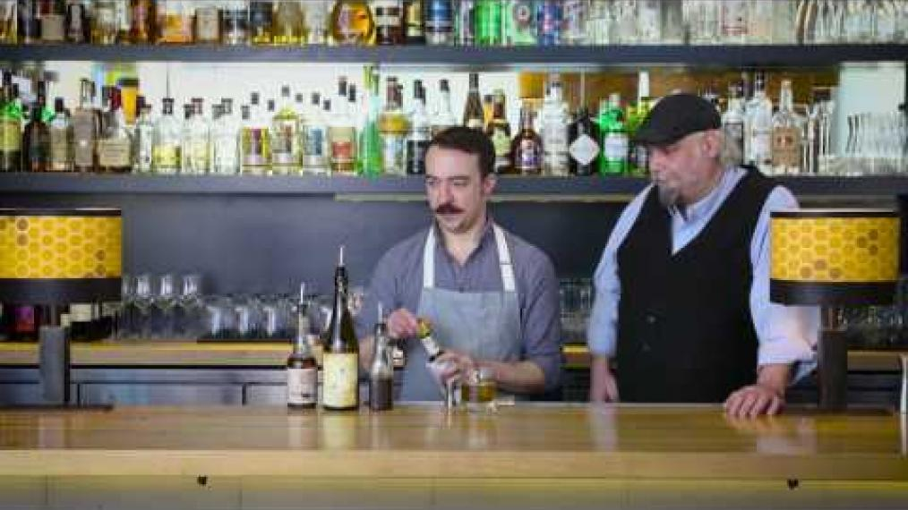 "John Myers and John Myers make ""the Grand Trunk"" with Liquid Riot Fernet Michaud and Old Port Rye Whiskey!"