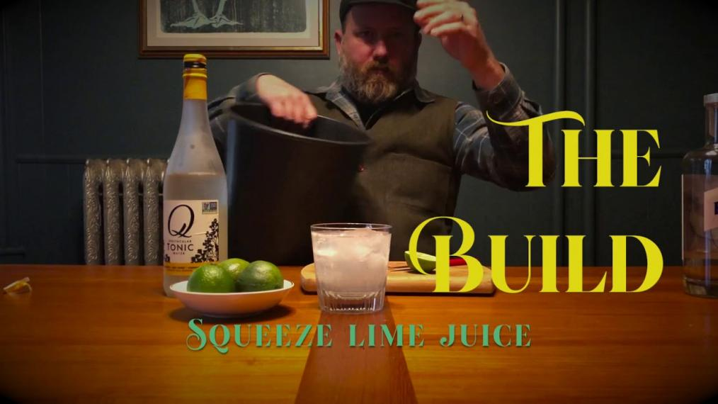 Spencer Albee makes a simple cocktail on his podcast Spencer Explores the Universe.