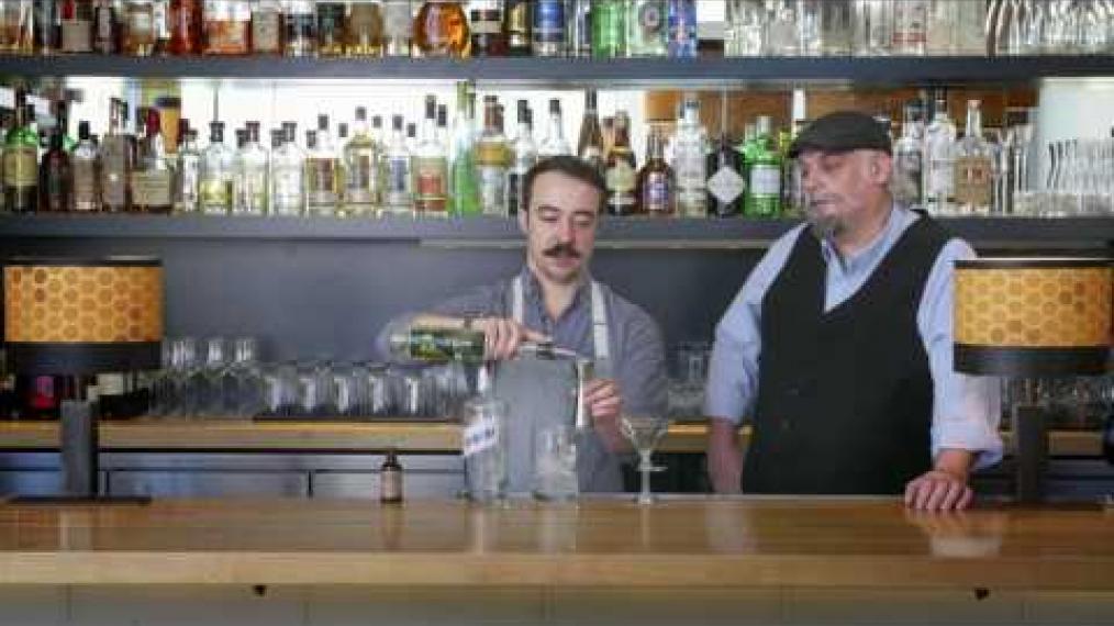 "John Myers and John Myers make ""the Dirigo"" with Tree Spirits Absinthe and Bimini Gin!"